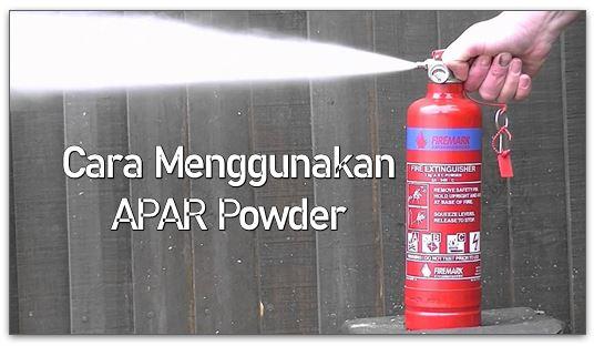 cara menggunakan apar powder