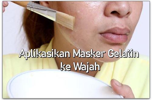 cara pakai masker gelatin