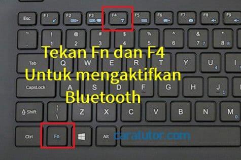 cara mengaktifkan bluetooth dengan tombol fn