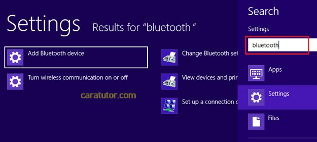 cara mengaktifkan bluetooth di windows 8