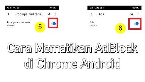 Cara Mematikan AdBlock di Chrome HP Android
