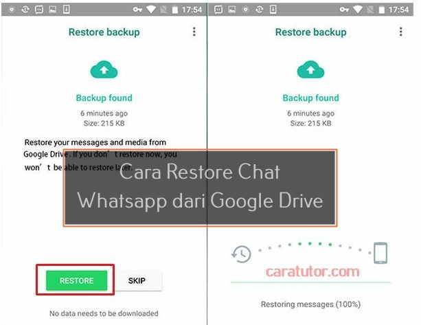 Cara Restore Chat Whatsapp dari google drive