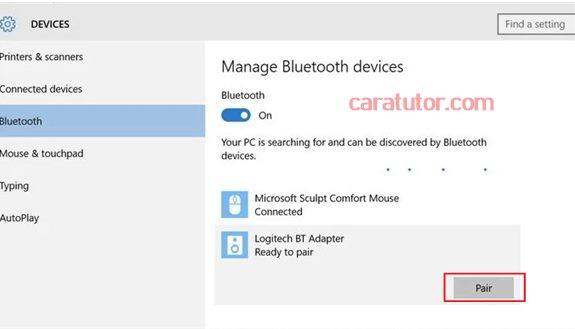 cara pair speaker Bluetooth dengan laptop