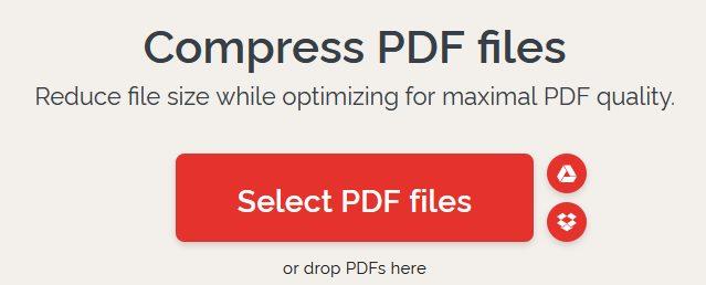 Memperkecil ukuran file PDF dengan ilovepdf.com