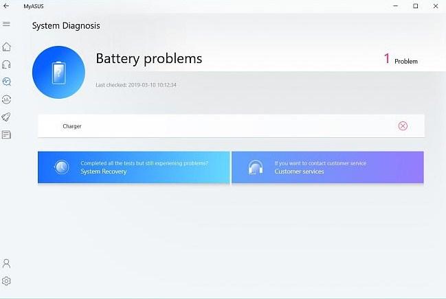 Aplikasi MyAsus Untuk Menjalankan Battery Diagnosis